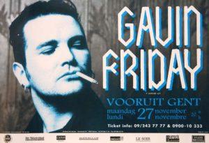Gavin Friday Gent Vooruit 1995 poster